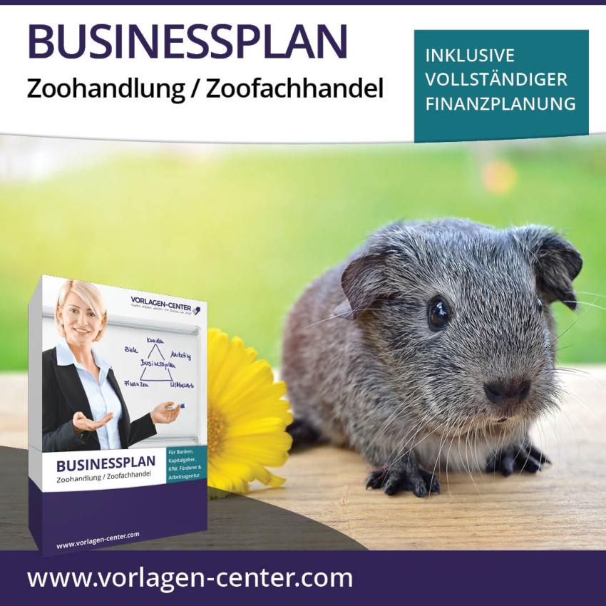 Businessplan-Paket Zoohandlung / Zoofachhandel