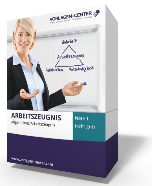 Allgemeines Arbeitszeugnis / Zwischenzeugnis