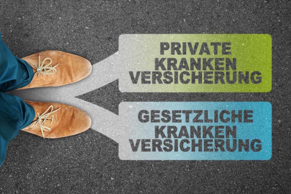 Wahl zwischen PKV und GKV - Krankenversicherung für Selbstständige
