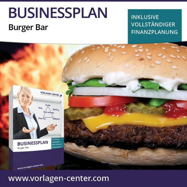 Businessplan-Paket Burger Bar