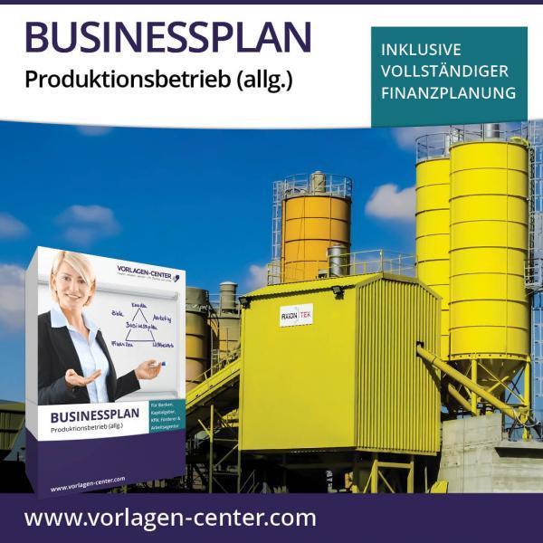 Businessplan-Paket Produktionsbetrieb (allg.)