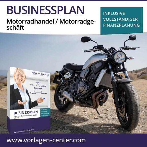 Businessplan-Paket Motorradhandel / Motorradgeschäft