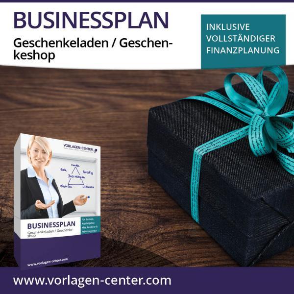 Businessplan-Paket Geschenkeladen / Geschenkeshop