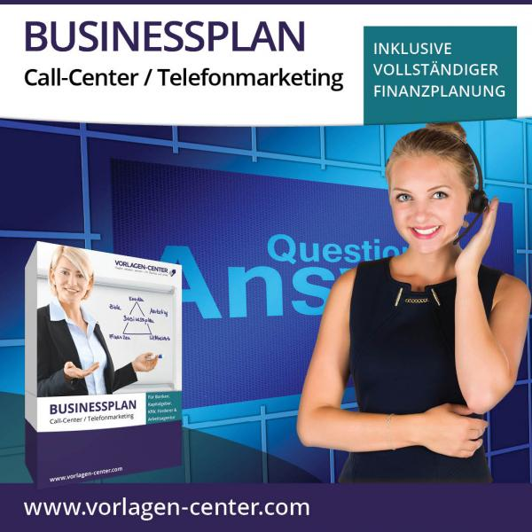 Businessplan-Paket Call-Center / Telefonmarketing