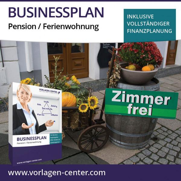 Businessplan-Paket Pension / Ferienwohnung