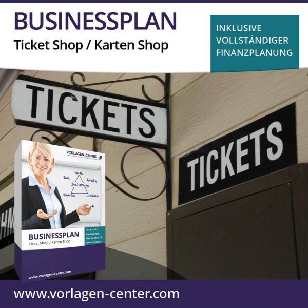 Businessplan-Paket Ticket Shop / Karten Shop
