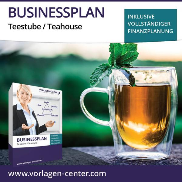 Businessplan-Paket Teestube / Teahouse