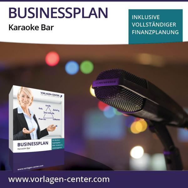 Businessplan-Paket Karaoke Bar