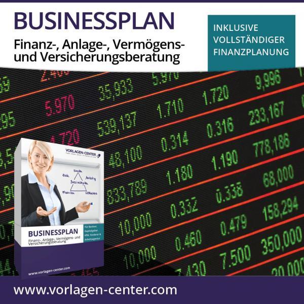 Businessplan-Paket Finanz-, Anlage-, Vermögens- und Versicherungsberatung