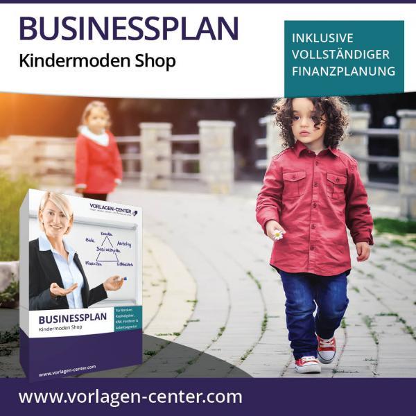 Businessplan-Paket Kindermoden Shop