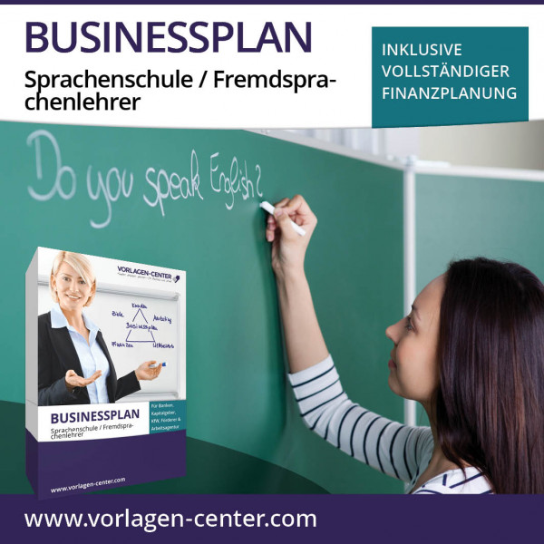 Businessplan-Paket Sprachenschule / Fremdsprachenlehrer