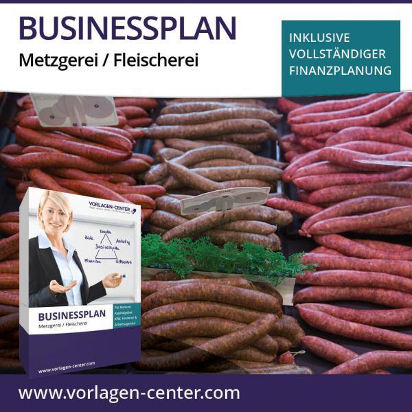 Businessplan-Paket Metzgerei / Fleischerei