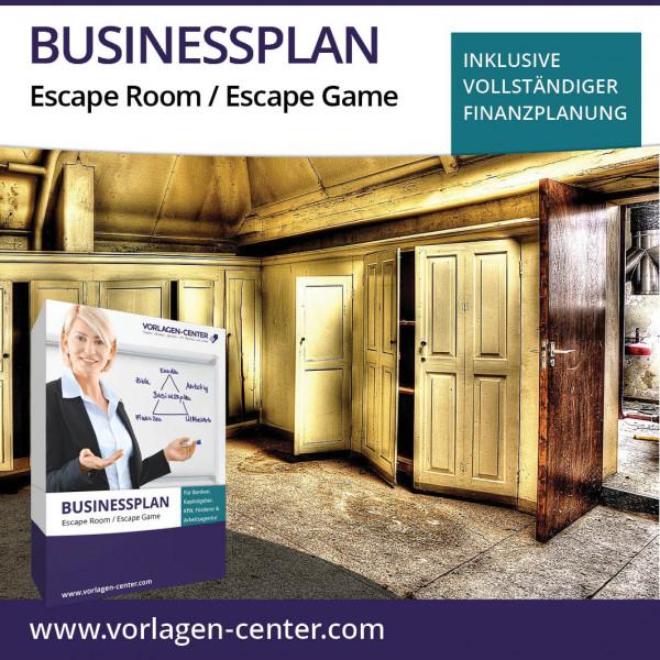 Businessplan-Paket Escape Room / Escape Game