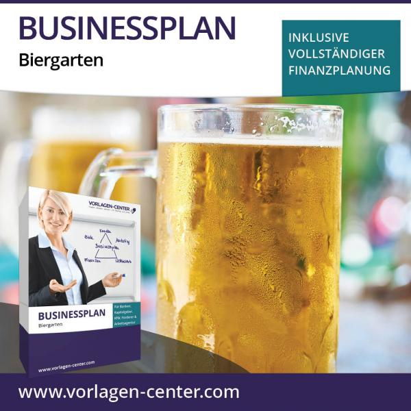 Businessplan-Paket Biergarten