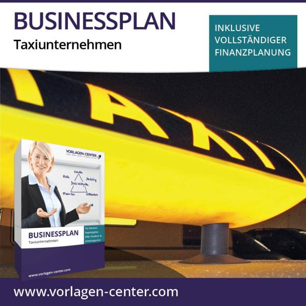 Businessplan-Paket Taxiunternehmen