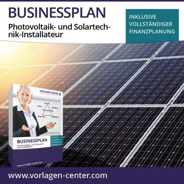 Businessplan-Paket Photovoltaik- und Solartechnik-Installateur