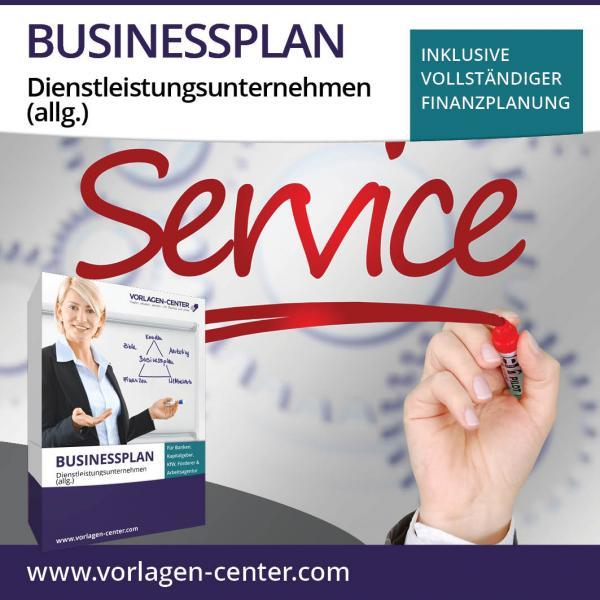 Businessplan-Paket Dienstleistungsunternehmen (allg.)