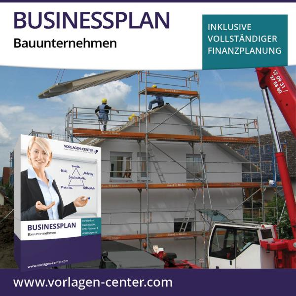 Businessplan-Paket Bauunternehmen