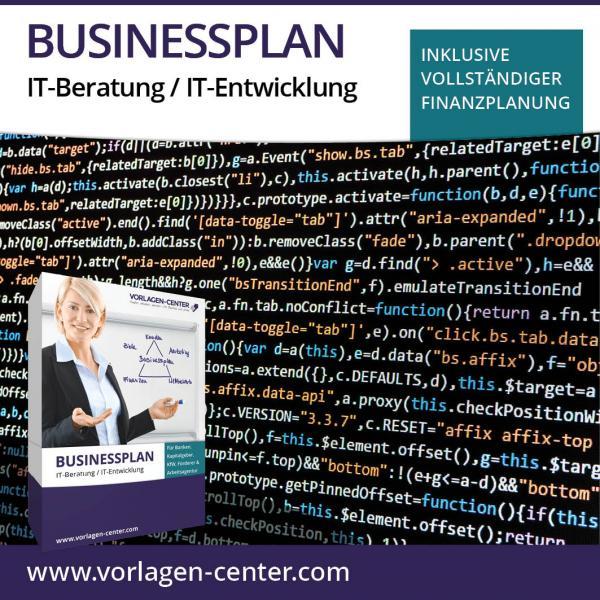 Businessplan-Paket IT-Beratung / IT-Entwicklung