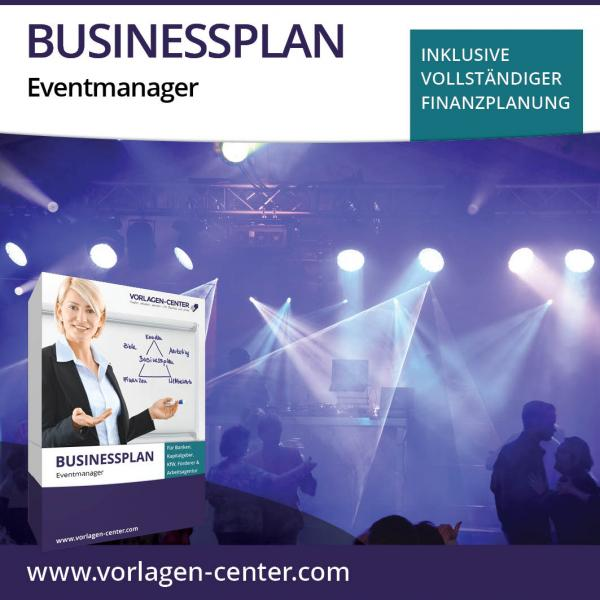 Businessplan-Paket Eventmanager
