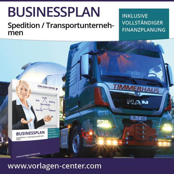 Businessplan-Paket Spedition / Transportunternehmen