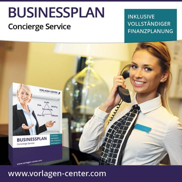 Businessplan-Paket Concierge Service