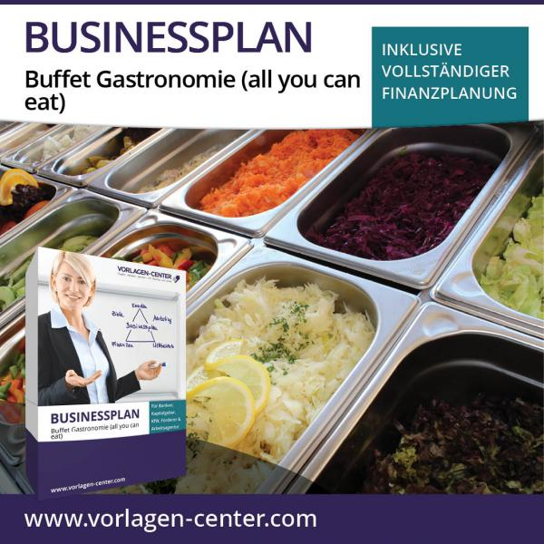 Businessplan-Paket Buffet Gastronomie (all you can eat)