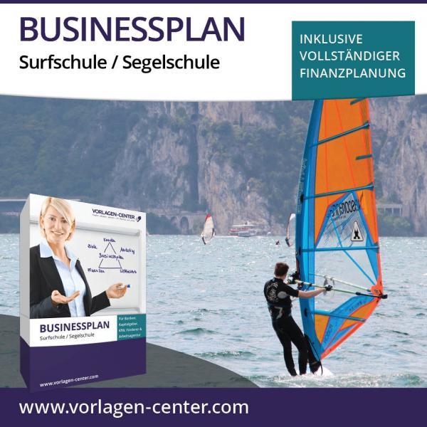 Businessplan-Paket Surfschule / Segelschule