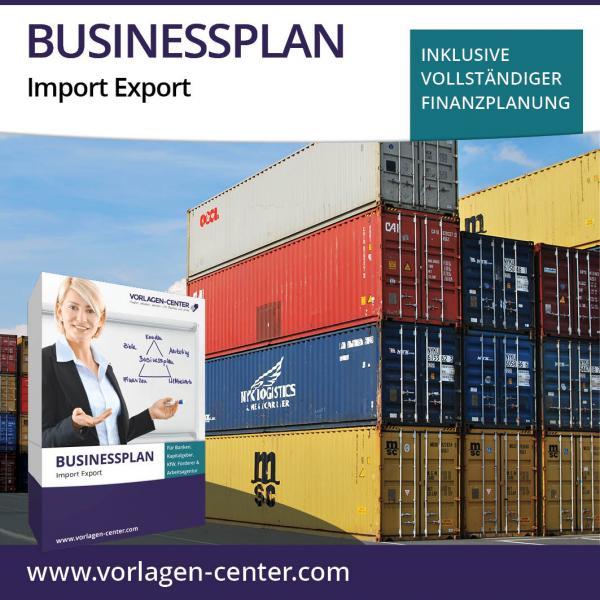 Businessplan-Paket Import Export