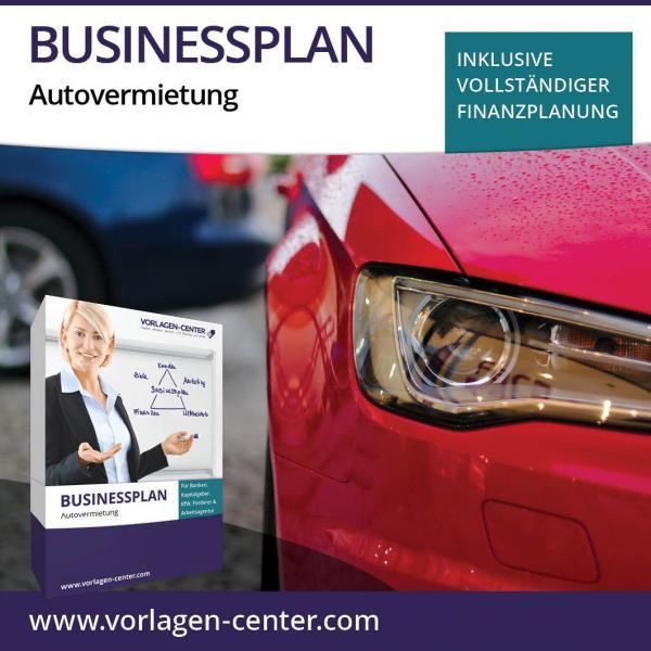 Businessplan-Paket Autovermietung