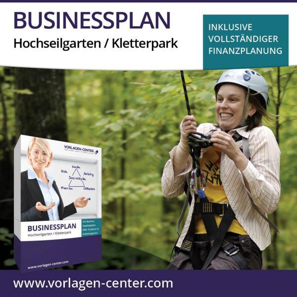 Businessplan-Paket Hochseilgarten / Kletterpark
