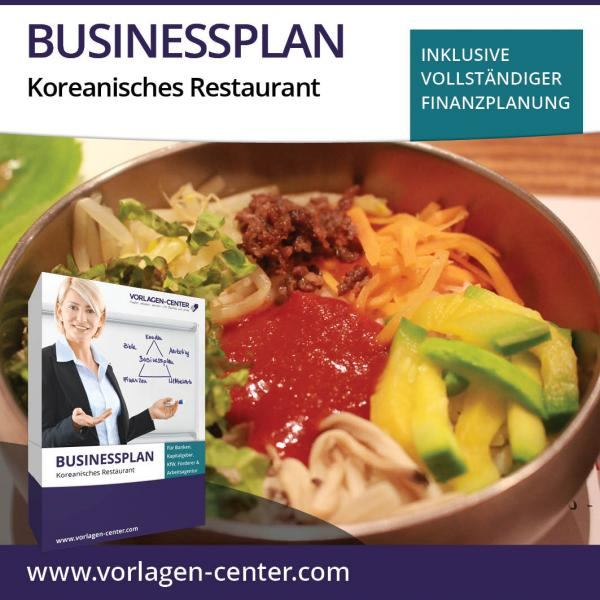 Businessplan-Paket Koreanisches Restaurant