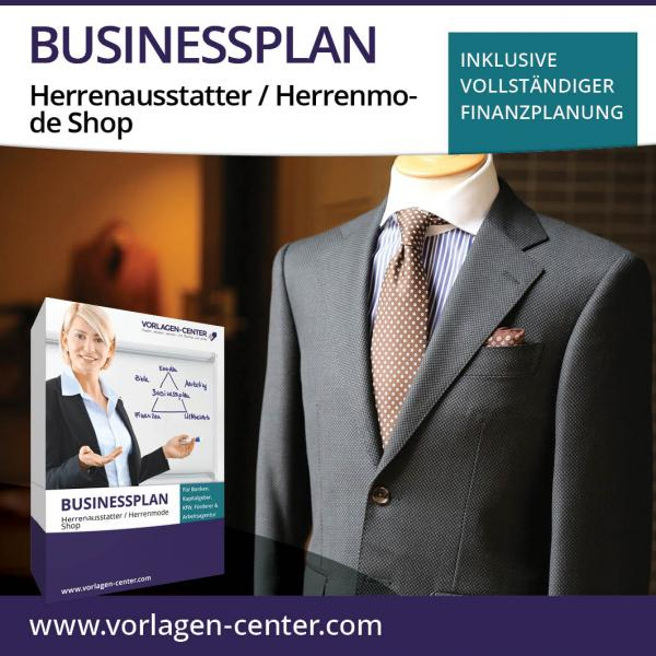Businessplan-Paket Herrenausstatter / Herrenmode Shop