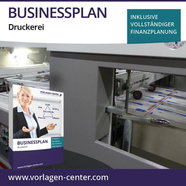 Businessplan-Paket Druckerei