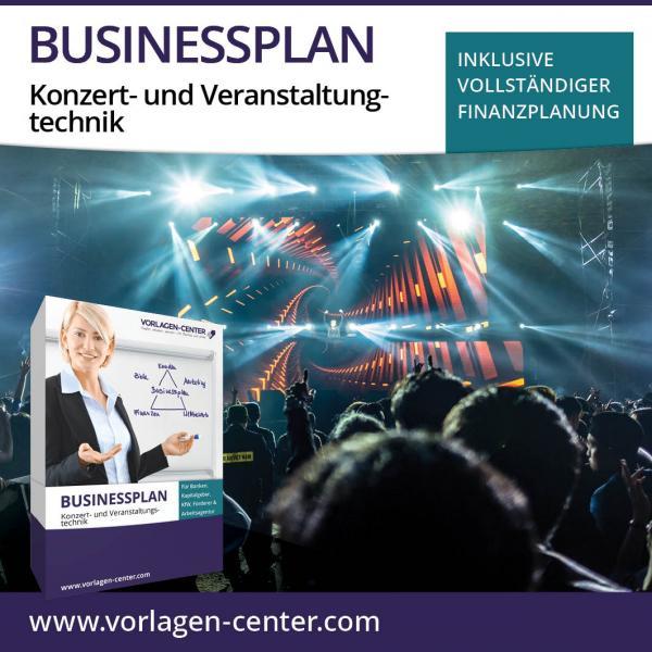 Businessplan-Paket Konzert- und Veranstaltungstechnik