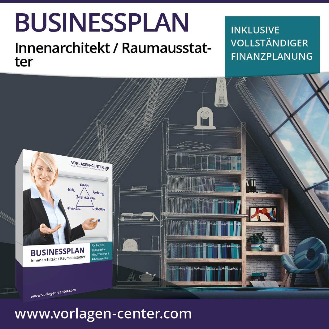 Businessplan Paket Innenarchitekt / Raumausstatter