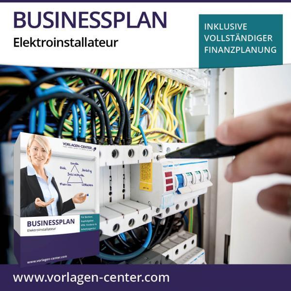 Businessplan-Paket Elektroinstallateur