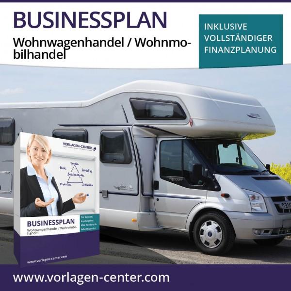 Businessplan-Paket Wohnwagenhandel / Wohnmobilhandel