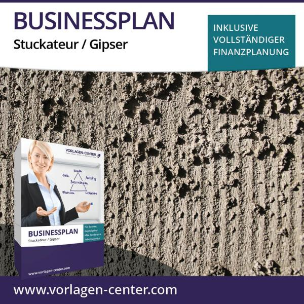 Businessplan-Paket Stuckateur / Gipser