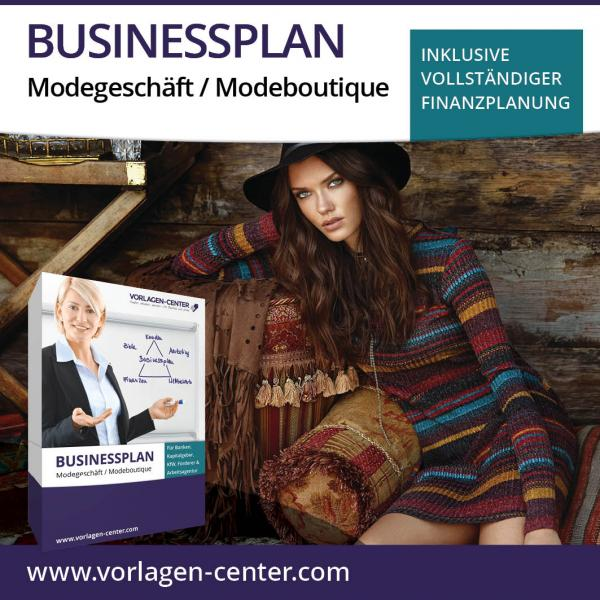 Businessplan-Paket Modegeschäft / Modeboutique