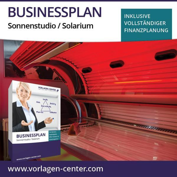Businessplan-Paket Sonnenstudio / Solarium