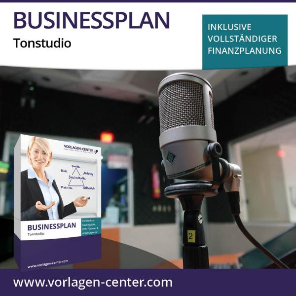 Businessplan-Paket Tonstudio
