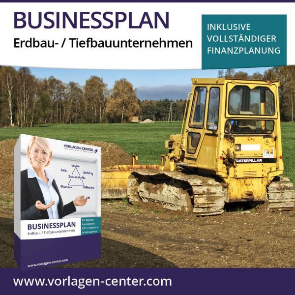 Businessplan-Paket Erdbau- / Tiefbauunternehmen