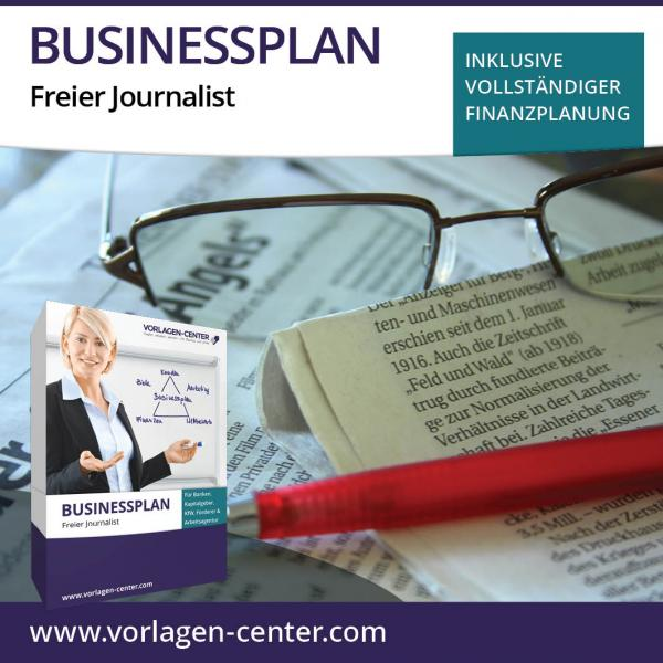 Businessplan-Paket Freier Journalist