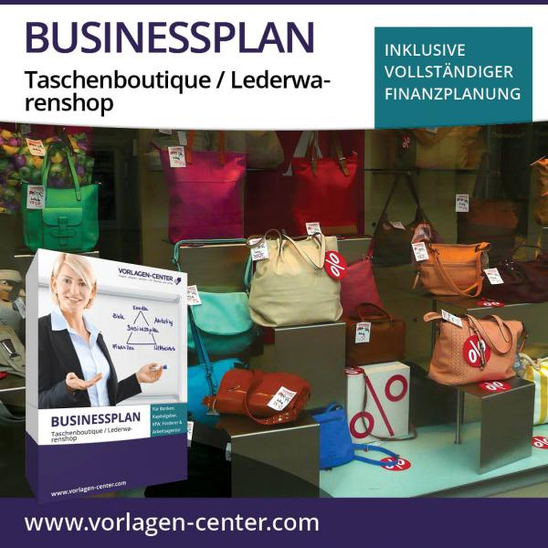 Businessplan-Paket Taschenboutique / Lederwarenshop