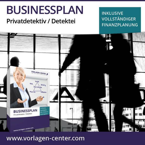 Businessplan-Paket Privatdetektiv / Detektei