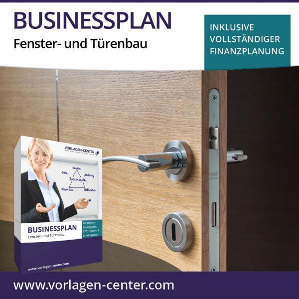Businessplan-Paket Fenster- und Türenbau