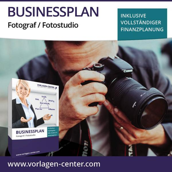 Businessplan-Paket Fotograf / Fotostudio