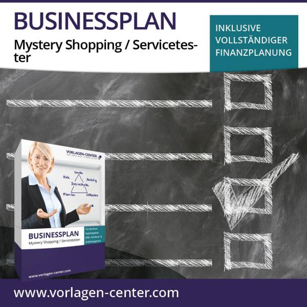 Businessplan-Paket Mystery Shopping / Servicetester