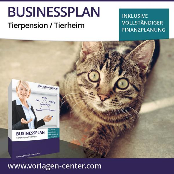 Businessplan-Paket Tierpension / Tierheim